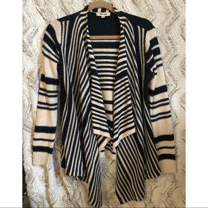 Women's Striped Knit Sweater Cardigan